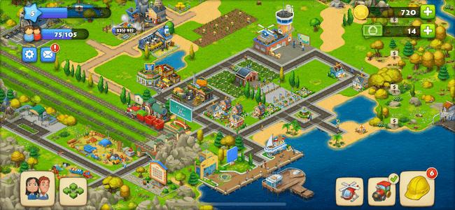 タウンシップ 街作り画面