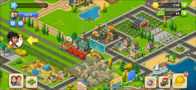 タウンシップ ホーム画面